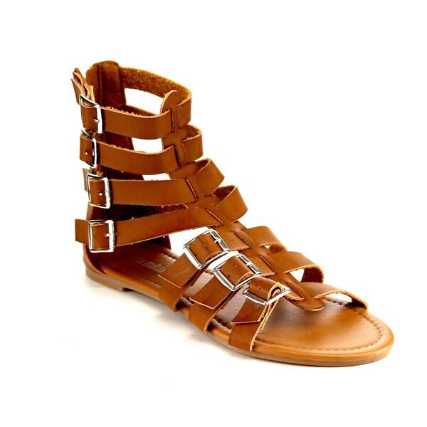 Olivia Miller Omm-9955 Gladiator Flat Sandals