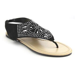 Olivia Miller Omc-4486 Studded Thong Sandals