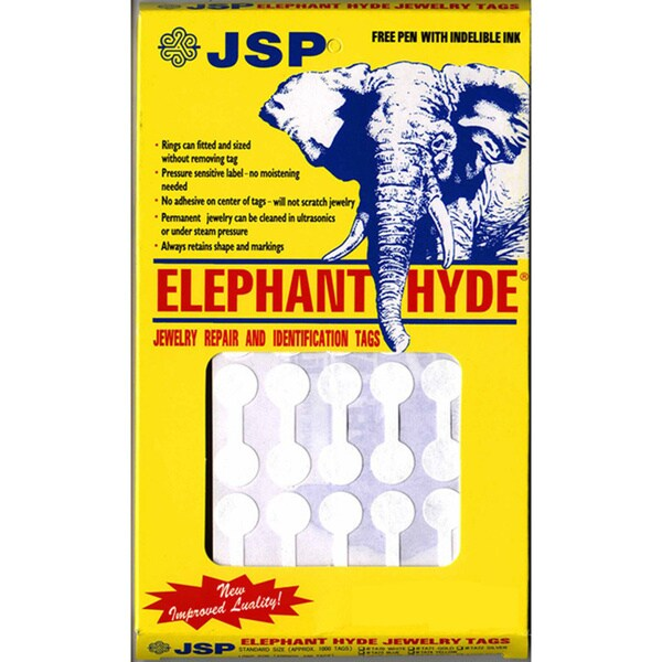 ELEPHANT HYDE TAGS WHITE 1000