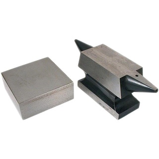 Double Horn Anvil with flat solid steel bench block