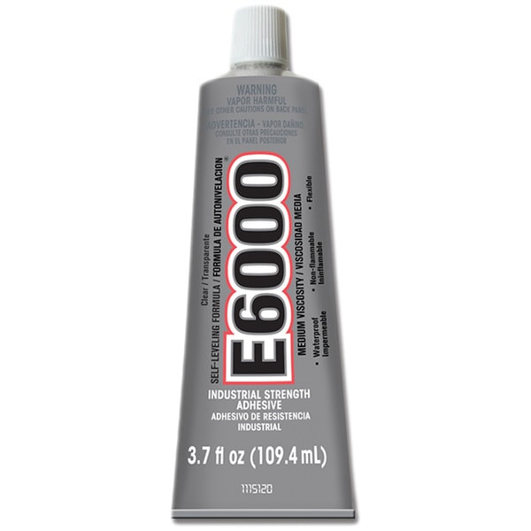 E6000 Adhesive high viscosity glue 6x 3.7 Fl Oz Tubes