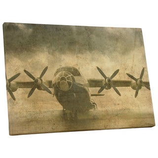 Pop Art 'Old Cargo Plane Full-Size' Gallery Wrapped Canvas Wall Art