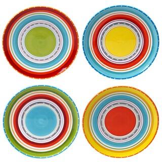 Certified International Bianca Green 10.75-inch Dinner Plates (Set of 4) Assorted Designs