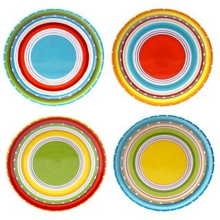 Certified International Bianca Green 8.75-inch Salad/Dessert Plates (Set of 4) Assorted Designs