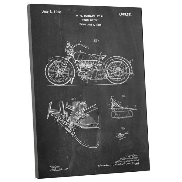 Cole 'Harvey Motorcycle' Gallery Wrapped Canvas Wall Art