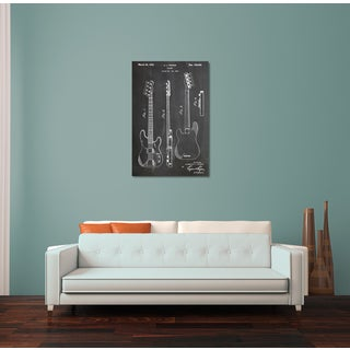 Cole 'Fender Guitar' Gallery Wrapped Canvas Wall Art