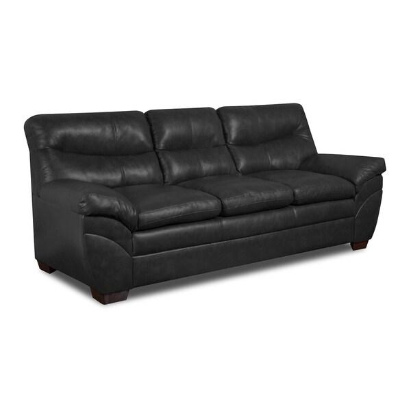 Simmons Upholstery Soho Onyx Bonded Leather Sofa