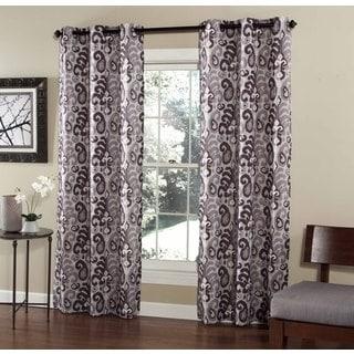 Ikat Plume 84-inch Curtain Grommet Panel Pair