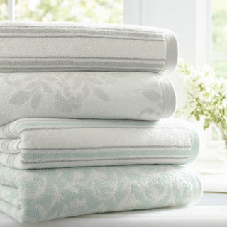 Laura Ashley Jacquard 3-Piece Towel Set