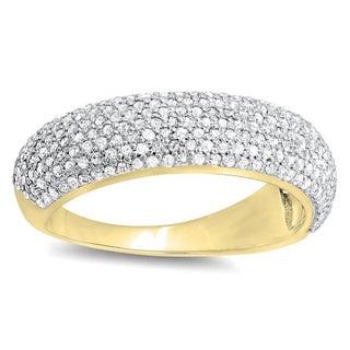 10k Gold 1ct TDW Round Diamond Anniversary Wedding Band Ring (H-I, I1-I2)