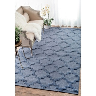 nuLOOM Luna Trellis Tone on Tone Fancy Blue Rug (8'6 x 11'6)