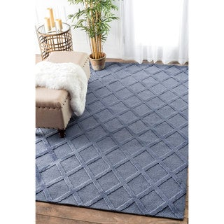 nuLOOM Trellis Tone on Tone Fancy Blue Rug (8'6 x 11'6)