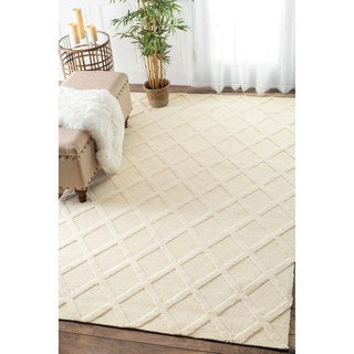 nuLOOM Trellis Tone on Tone Fancy Ivory Rug (8'6 x 11'6)