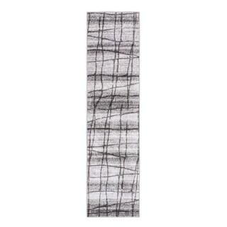 nuLOOM Contermporary Trellis Grey Rug (2'5 x 9'5)