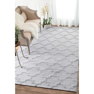 nuLOOM Luna Trellis Tone on Tone Fancy Grey Rug (8'6 x 11'6)