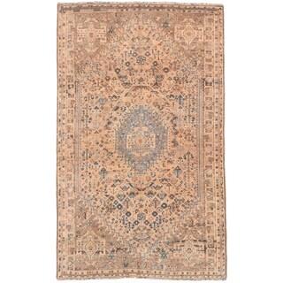 Ecarpetgallery Hand-knotted Persian Shiraz Qashqai Beige Wool Rug (4'9 x 7'8)