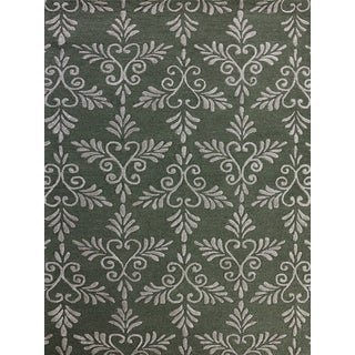 Salome Pale Sky New Zealand Wool and Embossed Art Silk Hand-Tufted Rug (8' x 11')