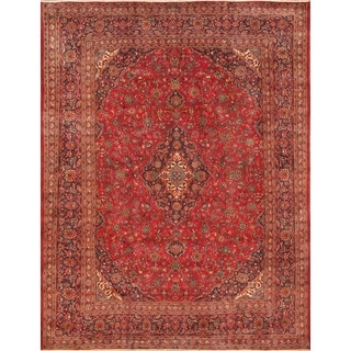 ecarpetgallery Hand Knotted Persian Kashmar Red Wool Rug (9'10 x 12'7)