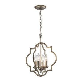 Elk Chandette 4-light Pendant in Aged Silver