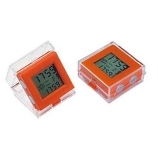 Elegance Dual Time Alarm clock - Orange