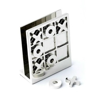 Elegance Executive Desk Accessory Tic Tac Toe Game Memo Holder