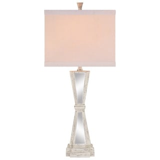 Catalina 19116-000 3-Way 32-Inch Distressed with Table Lamp with Square Linen Hardback Shade