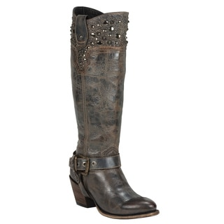 Black Star Women's Regulus Blue Leather Boots