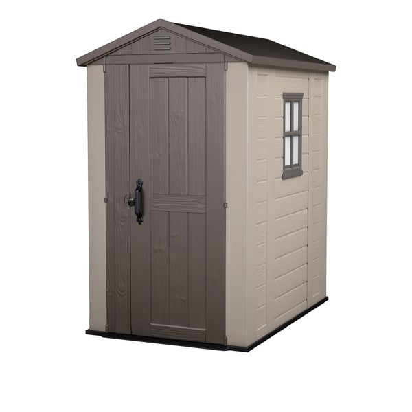 Keter Factor 4 x 6 ft. Resin Outdoor Backyard Garden Storage Shed