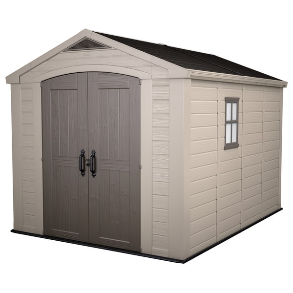 Keter Factor Large 8 x 11-foot Resin Outdoor Yard Garden Storage Shed