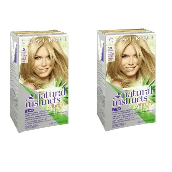 Clairol Natural Instincts Vibrant 10 Extra Light Blonde Permanent Haircolor
