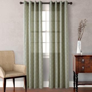 Heritage Landing Sage Diamond Geo Curtain Panel Pair