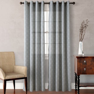 Heritage Landing Grey Diamond Geo Curtain Panels