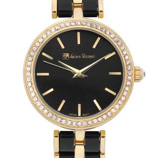 Lucien Pezzoni Women's Aurelio Sforza Two-tone Black Hand-set Crystal Radiant Dial Watch