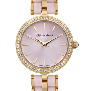 Lucien Pezzoni Women's Aurelio Sforza Two-tone Pink Hand-set Crystal Radiant Dial Watch