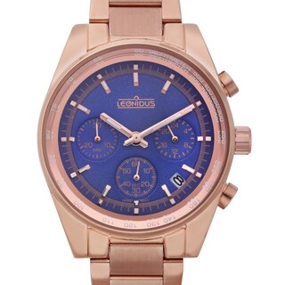 Leonidus Women's Eutropia Rosetone Multi-function Watch
