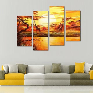 Hand-painted African Forest Painting 553