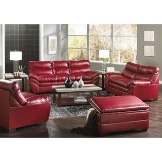 Simmons Upholstery Soho Cardinal Bonded Leather Loveseat