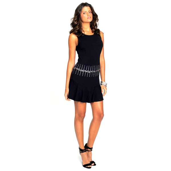 Sara Boo Flare Dress with Chain Detail