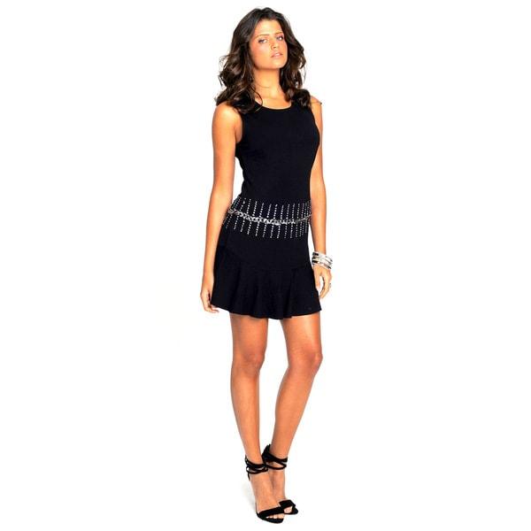Sara Boo Flare Dress with Chain Detail