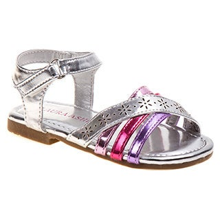 Laura Ashley Toddler Girls' Multi-strap Sandals