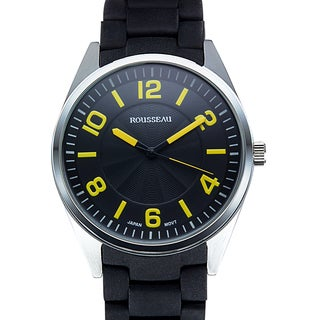 Rousseau Men's Armand Silicone Coated Metal Link Watch