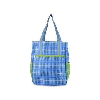 All For Color Blue Rattan Tennis Shoulder Bag