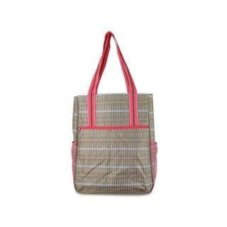 All For Color Khaki Rattan Tennis Shoulder Bag