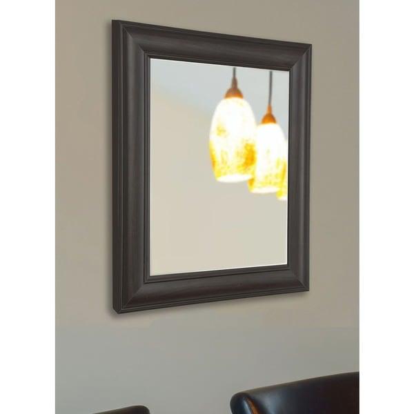 American Made Rayne Brazilian Walnut Vanity Wall Mirror 17652666