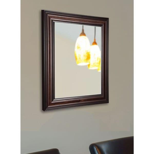 American Made Rayne American Walnut Vanity Wall Mirror 17652668