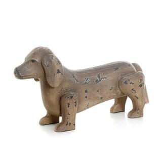 Hip Vintage Antique Painted Dachshund Dog Figurine