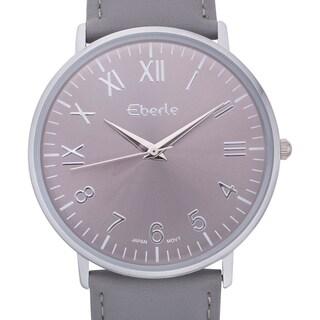 Eberle Men's Eiffel Watch with Grey Leather Strap