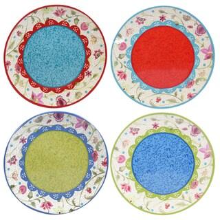 "Certified International Anabelle 9"" Salad/Dessert Plates (Set of 4) Assorted Designs"