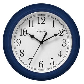 "Westclox 9.5"" Blue Decorative Wall Clock"