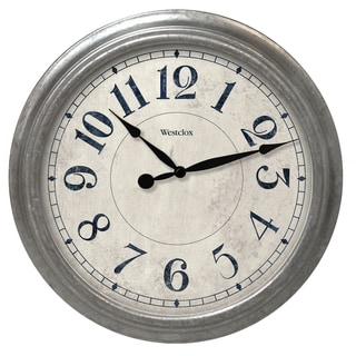 "Westclox 15.5"" Galvanized Finish Wall Clock"